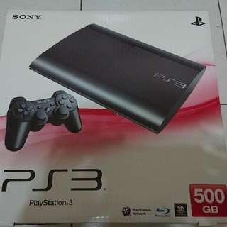 PS3主機+手把*2+遊戲光碟*3