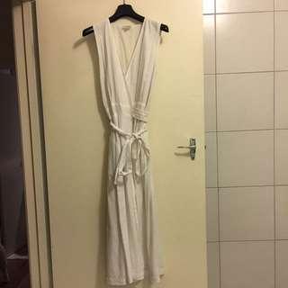 SEED White Linen Maxi Dress S8