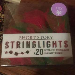 Short Story Red Lily String Lights
