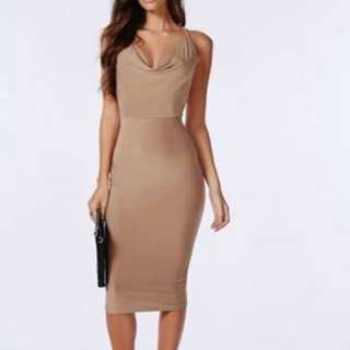 Missguided Crowl Neck Midi Dress