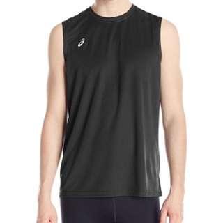 627c679ac BNWT ASICS Mens Circuit 8 Warm-Up Sleeveless Black S Sportswear Workout  Shirt Running Adidas