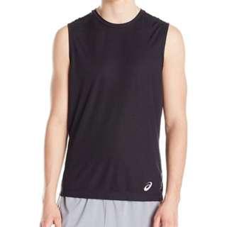 b40cbd736 BNWT ASICS Men's Sleeveless Top Size S Black Sports Running Shirt Tank  Adidas Nike Reebok Jersey