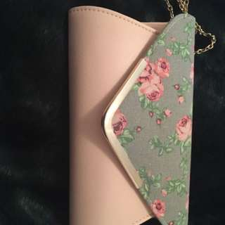 Floral Pink Clutch