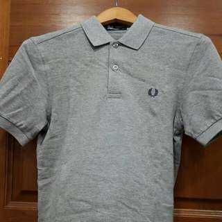 Original Fred Perry Plain Grey Polo Shirt - XS