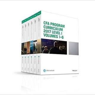 2017 CFA Level 2 Curriculum Full Set