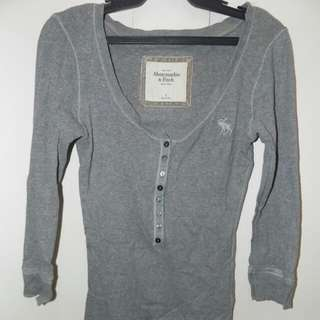 Abercrombie & Fitch Long Sleeve Fitted Top