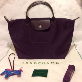 Longchamp Neo Medium Bilberry Bag (New, Genuine and On Hand for Shipping)