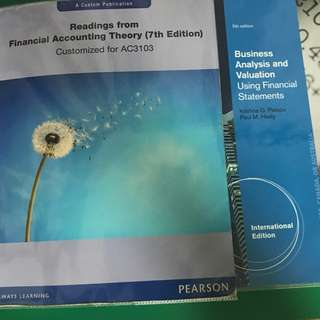 AC3103 Accounting Analysis And Equity Valuation Textbooks