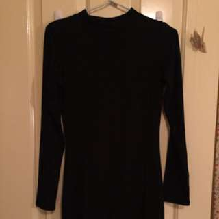 Long Sleeved Tight Black Dress (size 6)