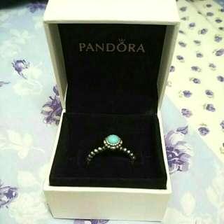 Pandora 潘朵拉 12月誕生石戒指