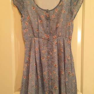 Floral Quirky Circus Dress (size 10)