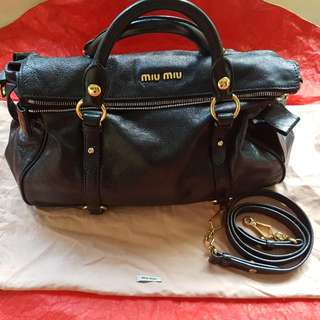 Miu Miu By Prada BOW BAG In Black