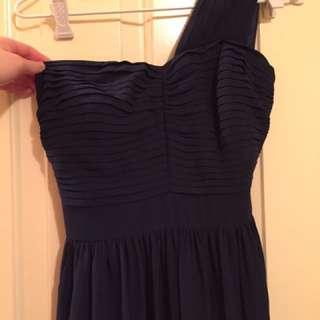 Navy Review Full Length Dress