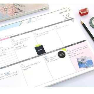 Extra Large Korean To-Do Scheduler Notepad