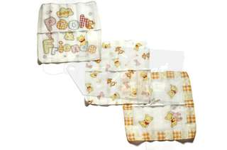 Disney Baby Winnie the Pooh and Tigger Burp Cloth Set of 3(White)