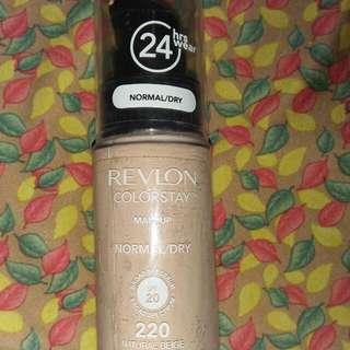 """Fondation Revlon Colorstay """"Shade Natural Beige""""220"""
