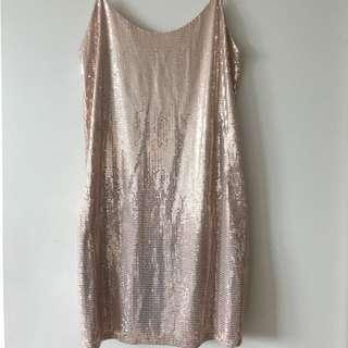 Champagne Sequence Mini Dress