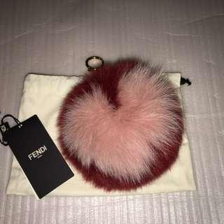 Authentic Fendi heart Pom Pom charm