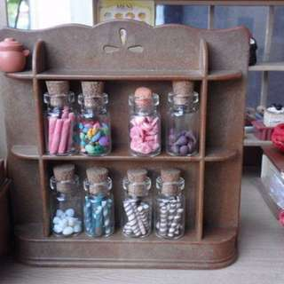 Made to order candies and fruits in jar