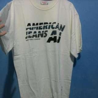 #clearancesale Kaos Putih American Jeans