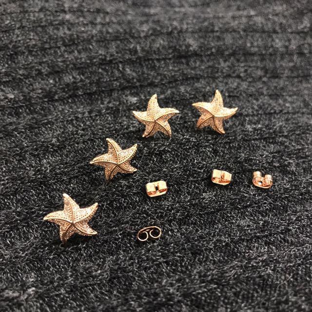 玫瑰金海星(2對50)
