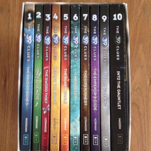 39 clues (10 books)