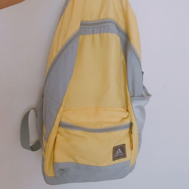 💘愛迪達 二手螢光黃後背包
