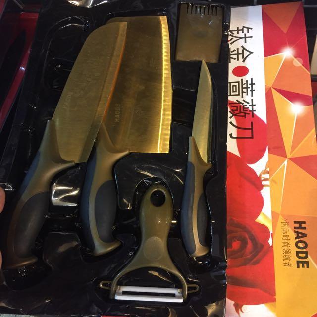 Haode鈦金 簥薇刀 4件刀具組