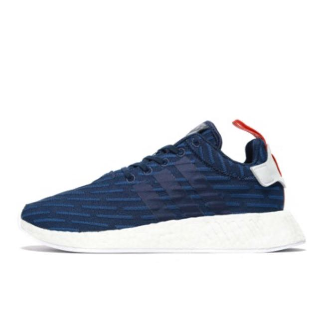 a6713c113 Adidas NMD R2 Navy Blue With Red Tab
