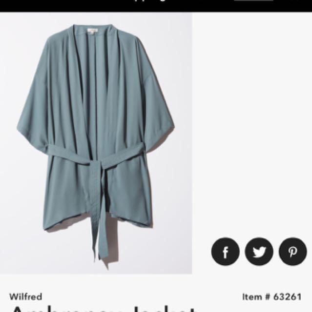 Aritzia Wilfred Ambronay Jacket