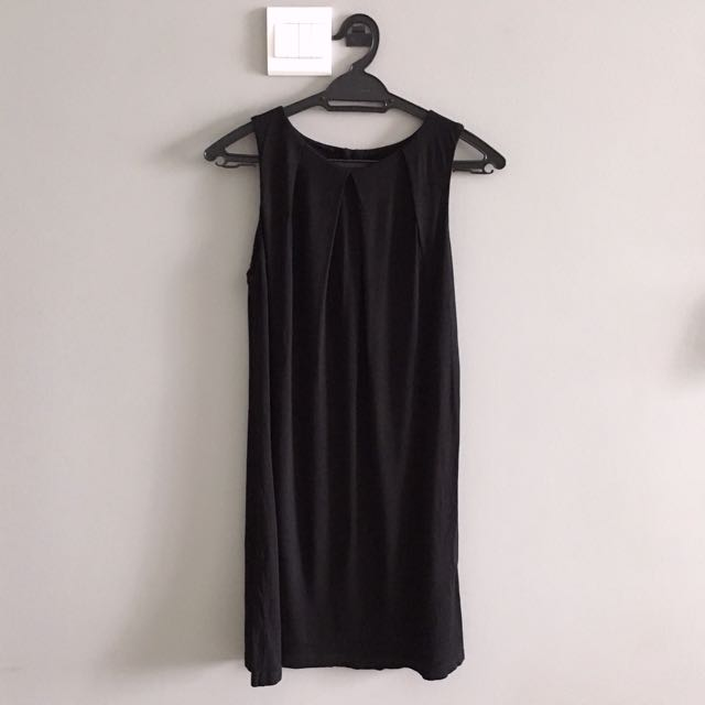ASOS UK LBD Little Black Dress Pleated Front