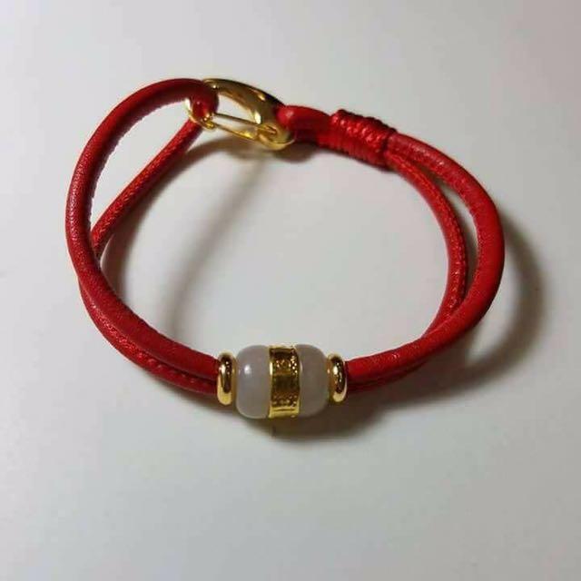 Authentic Jade Bracelet With 24k Gold