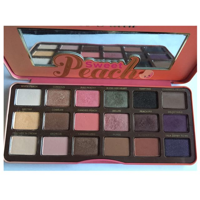 Authentic Toofaced Peach Palette