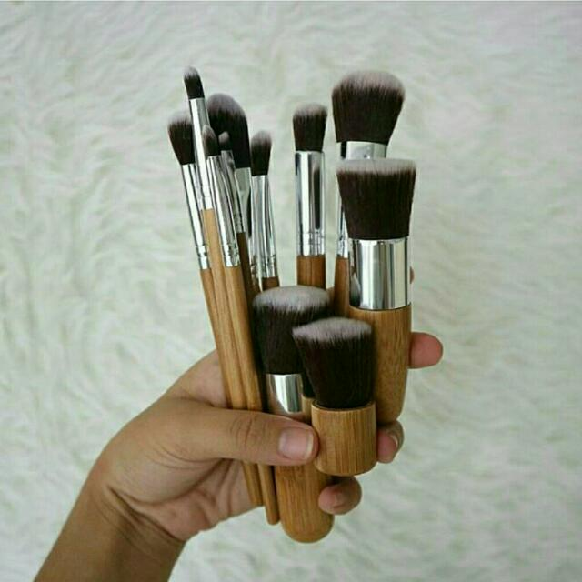 NEW Bamboo Brush Set + Pouch