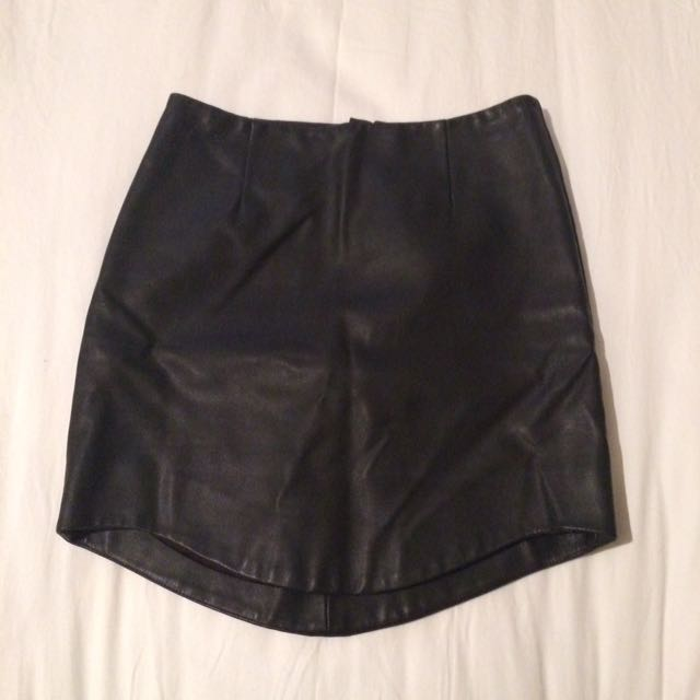 Bardot Faux Leather Skirt