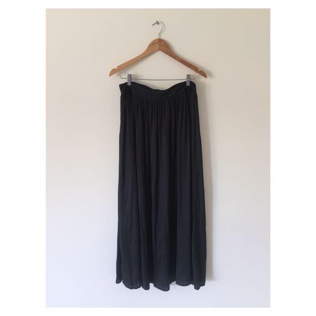 Black Maxi Skirt   Size 12