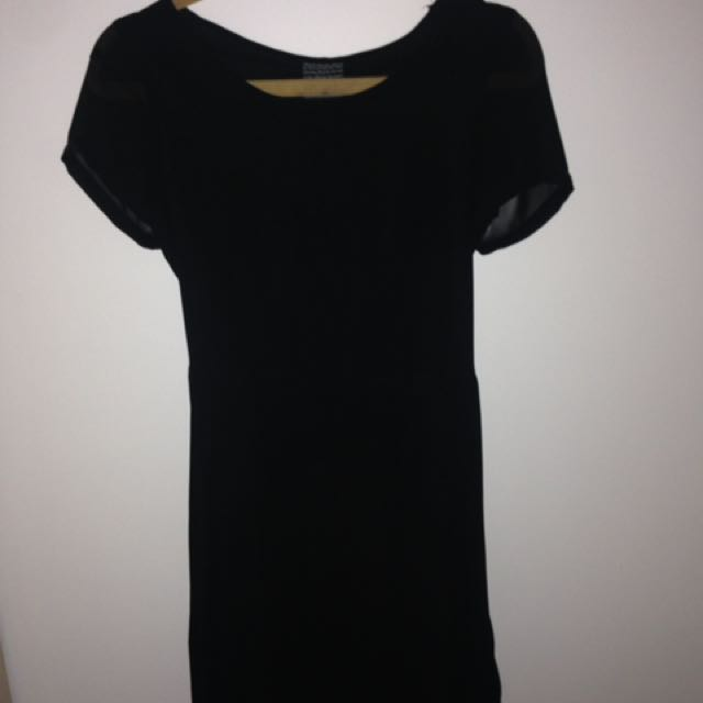 Black Polyester Dress 👗   Alice In The Eve
