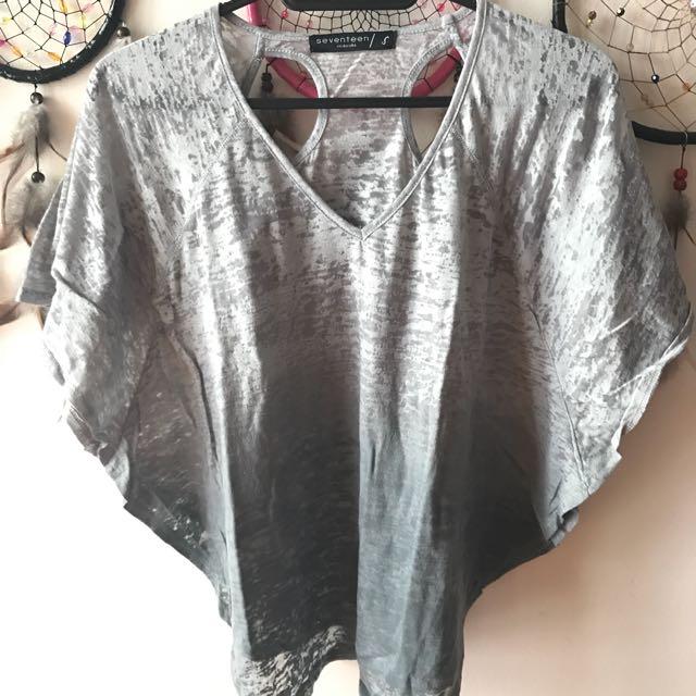 Black/Gray Ombre Top