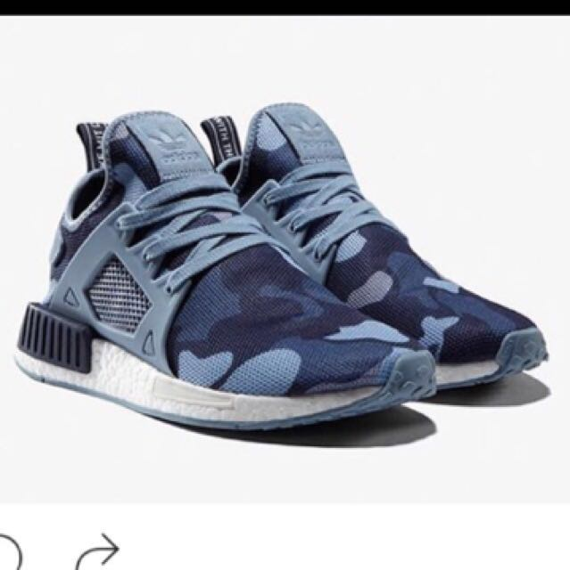 c3a0524cf Preloved Authentic Adidas NMD XR1 Duck Camo Blue