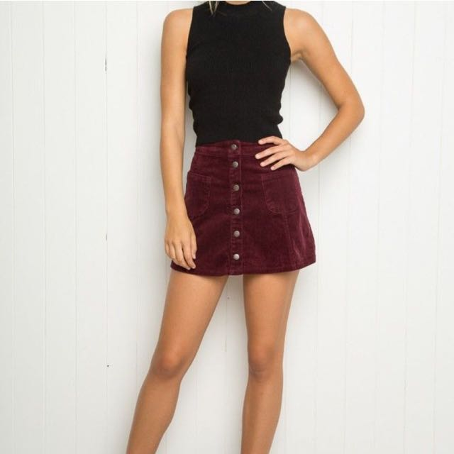 Brandy Melville Sena Corduroy Skirt