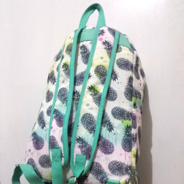 Colourful Watercolor Pineapple Backpack