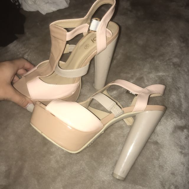 Cream High Heels