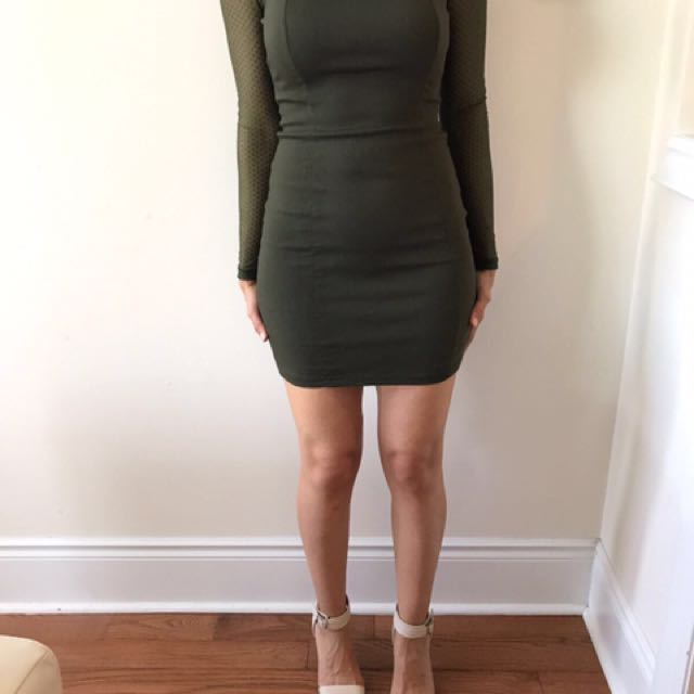 Dark Khaki Dress