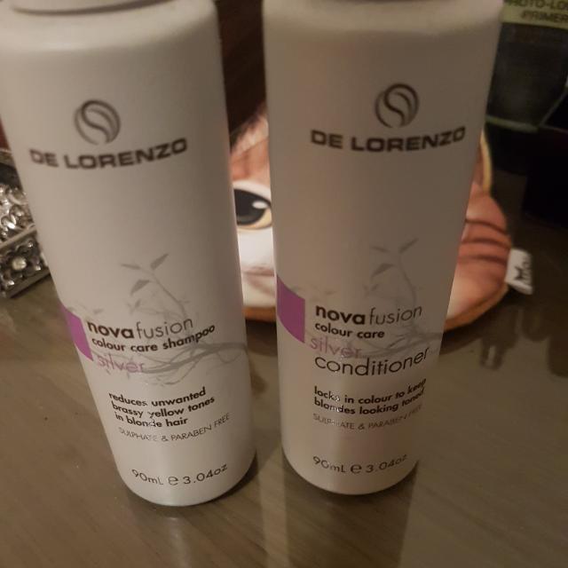 De Lorenzo Travel Size Silver Shampoo And Conditioner Unopened