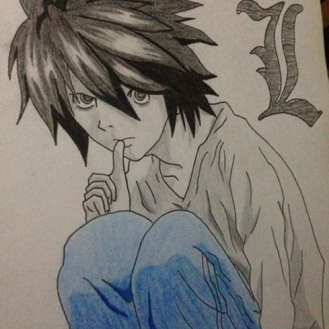 Death Note L Artwork