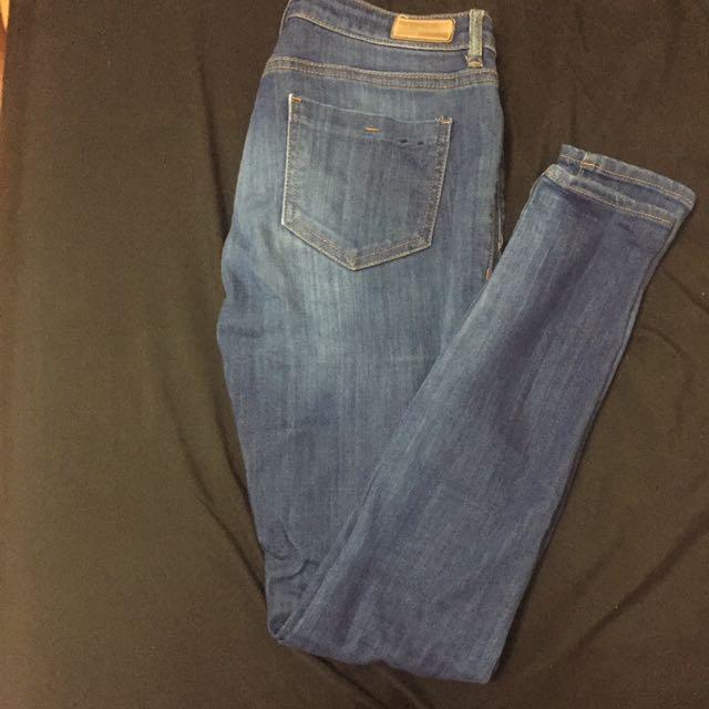 Deep Blue Mid rise Jeans