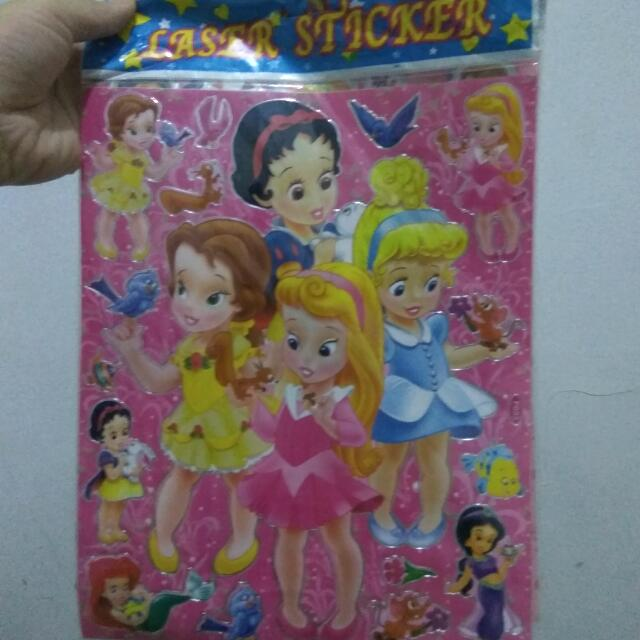 Disney Princesses Laser Sticker