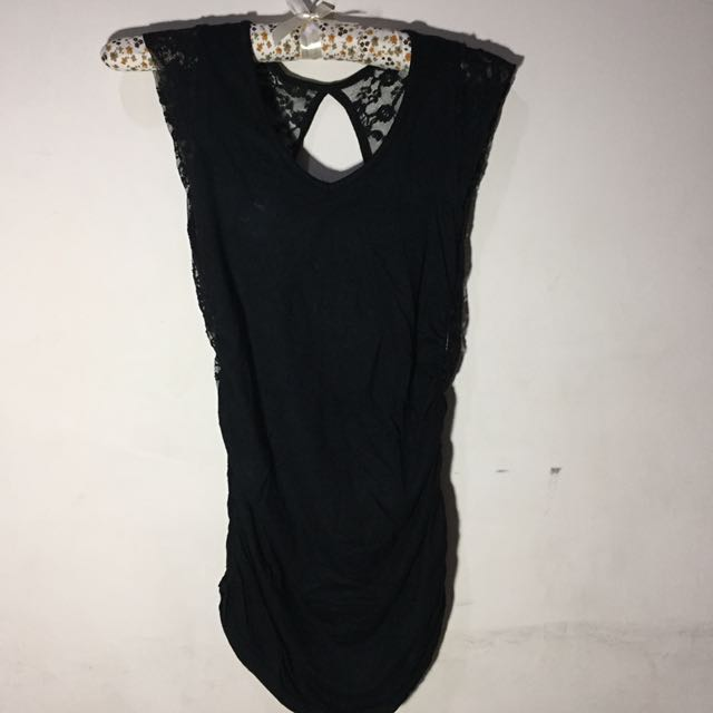 Dress Mini Black Bludru Lace