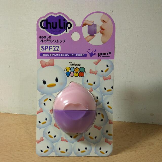 [Ericaca 愛挖寶] ChuLip*迪士尼 Daisy粉紫色 玫瑰口味護唇膏~❤ 全新未使用和SPF 22 #旋轉美妝五折日