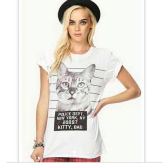 F21 Cat Shirt